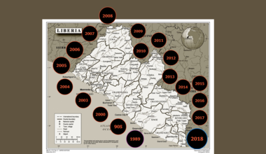 Timeline of the key events in Liberia - (1989-2018) - Screenshot of the video created by: Shpend Berbatovci | UNMIL | 22 MAR 18