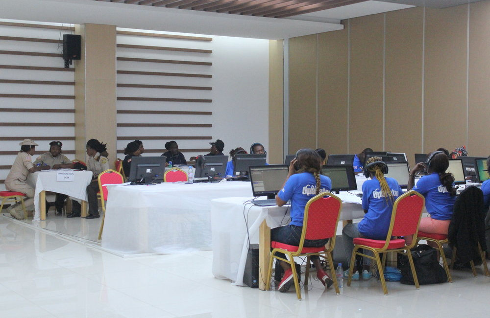 10 October 2017, Monrovia – Women situation room on the day of the Presidential and House of Representative Elections 2017. ©UNMIL Photo: Carla Feriguetti
