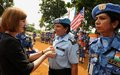 Indian Police Officers commended for their contribution to UNMIL and peace in Liberia