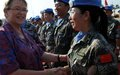 Outgoing UN Envoy commends Chinese peacekeepers for supporting Liberia's peace process