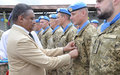 UNMIL UKRAINIAN PEACEKEEPERS HONOURED WITH UN MEDALS FOR CONTRIBUTION TO PEACE IN LIBERIA