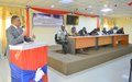 UNMIL supports the Ministry of Justice to convene a Public Forum on Election Security