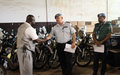UNMIL supports Liberian Police and Immigration Services with high-tech equipment and logistics