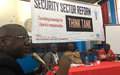 UNMIL supports the SSR Think Tank to convene an open dialogue on human security at the University of Liberia